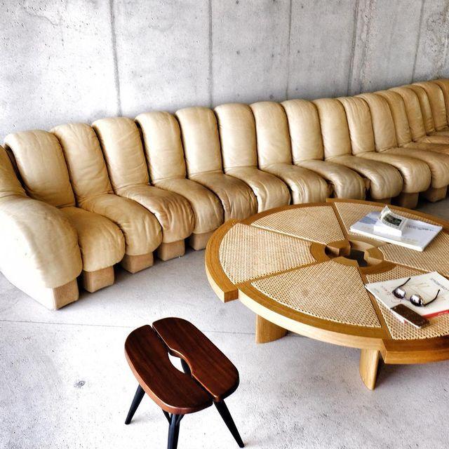 image: / THE canapé de Sede / #design #jeleveux  #lesrochesrouges #decoration #mespetitespaillettes #architecture #festenarchitecture #photographer #ds600 #surmaliste #sofa #desede by mespetitespaillettes