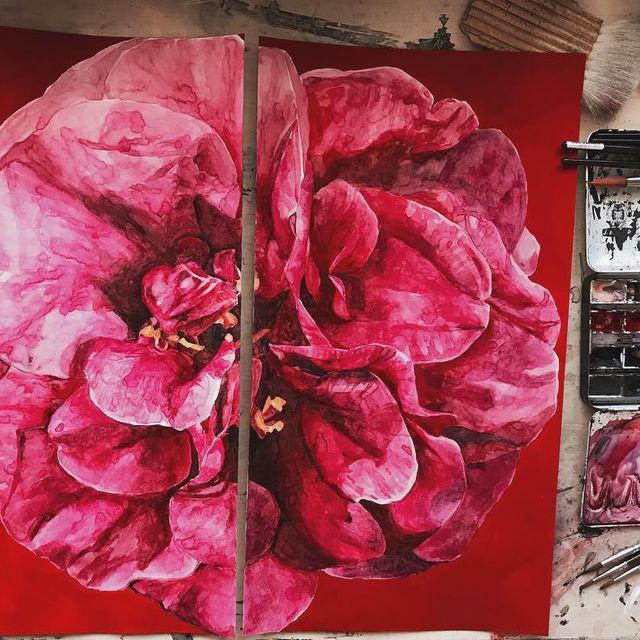 image: ?My Roses ? #mypaintings #new #roses #watercolor #art #acrilyc #rojoyrosa by lulumai