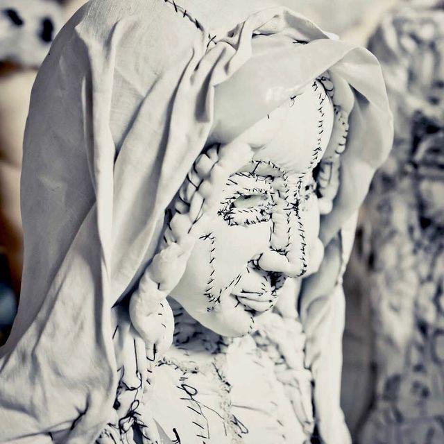 image: Anne Valerie Dupond @annevaleriedupond_officiel - Workshop View (fabric stitching) #annevaleriedupond photo: #theglint by durmoosh