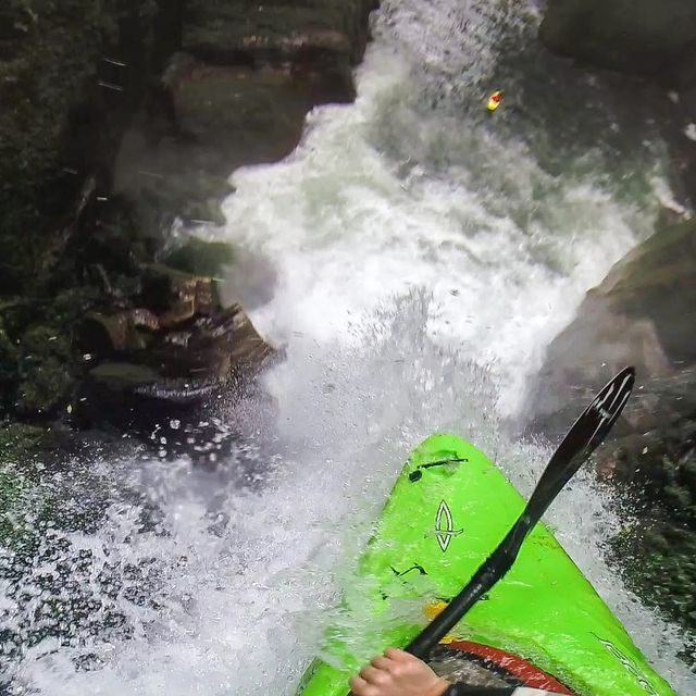 video: Kayaker Drops Over 60 ft. Waterfall by kierin
