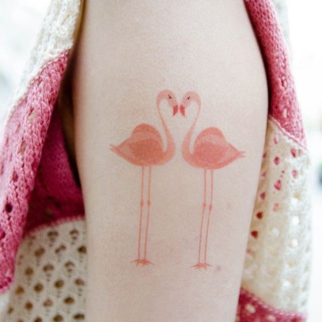 image: flamingo tattoo by modernghosts