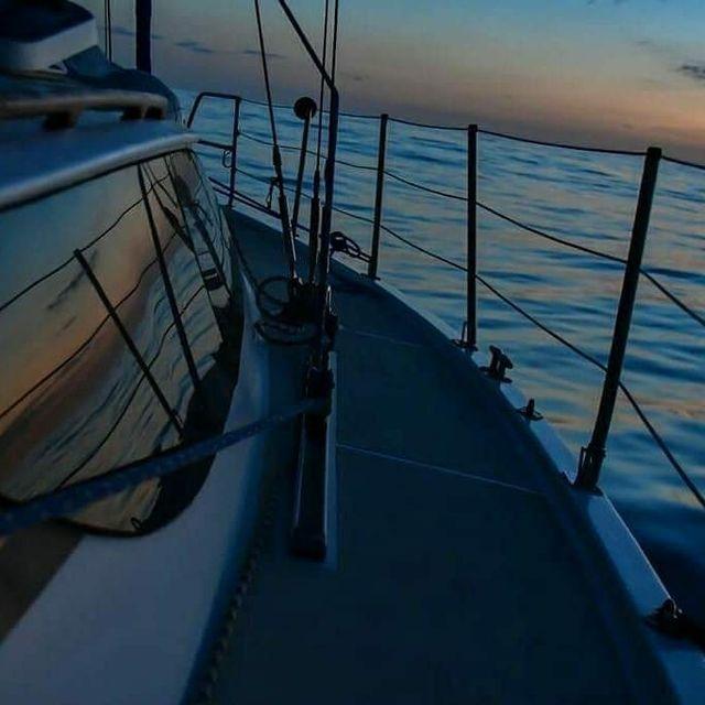 image: Sunrise on board ️⛵️Gulliver II - Floripa -Angra @svgulliver..? sent to us by @fabianobenedetti by sailing_boats