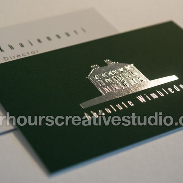 image: Spot Gloss Business Cards | After Hours by hourscreative
