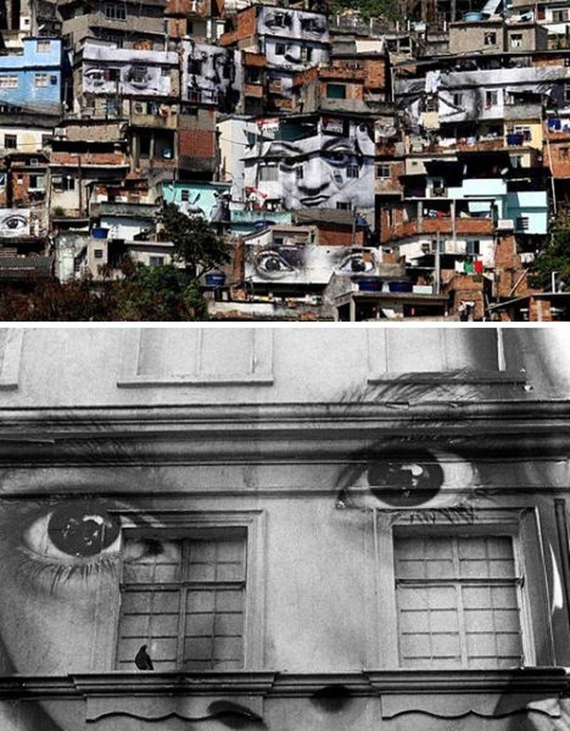 image: Photo Graffiti by JR, Brazil by martanicolas