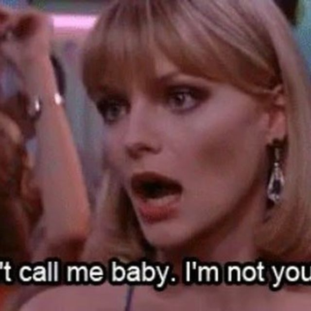 image: Elvira spitting the truth 💋Michelle Pfeiffer, Scarface (1983) from @eyesneverliechico by 70sbabes