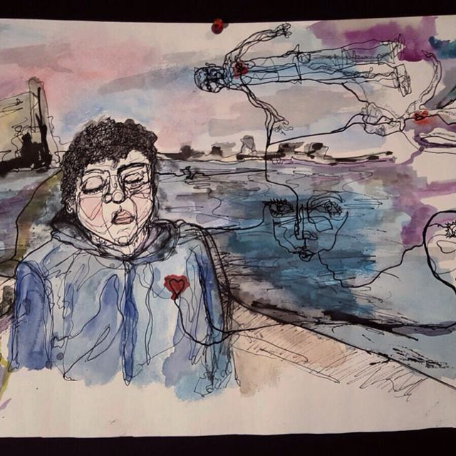 image: ink & watercolor by alexmajagranzas
