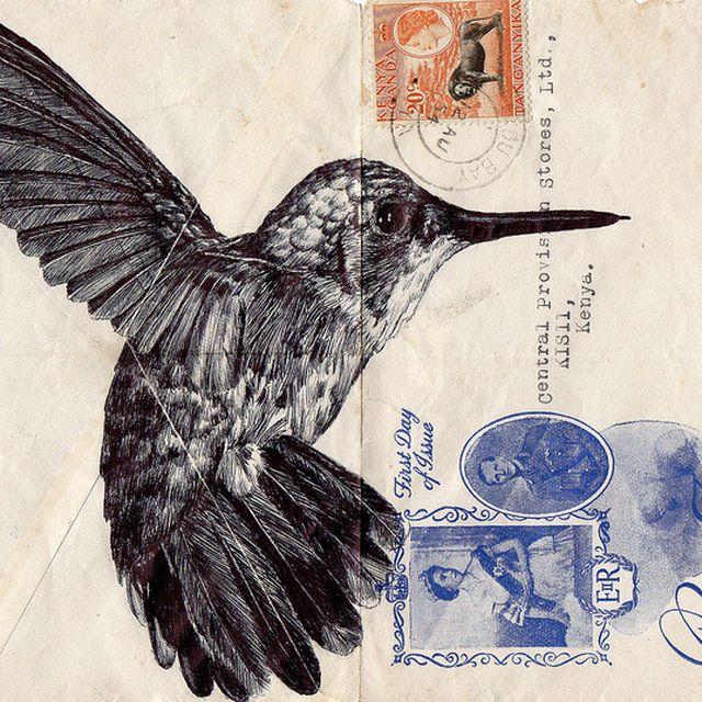 image: biro pen on vintage envelope | Flickr: Intercambio d... by andreagenova