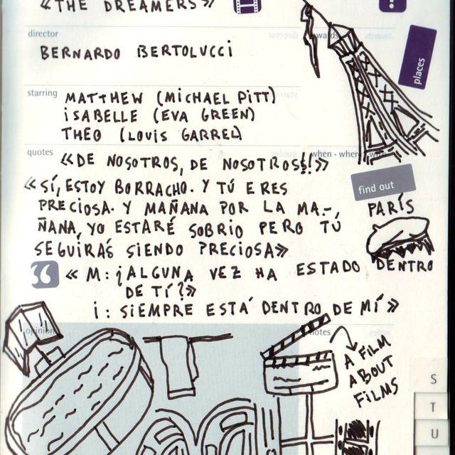 "image: Moleskine Film Journal - ""Dreamers"" by catsdontfly"