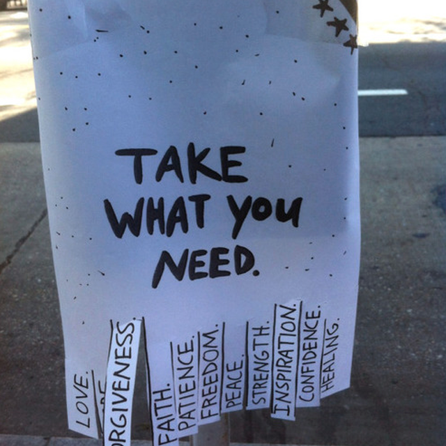 image: TAKE WHAT YOU NEED by helpers