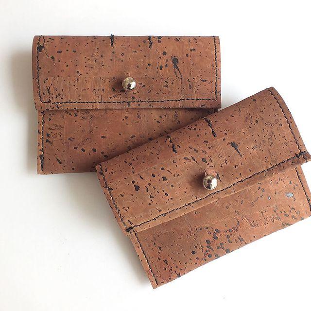 image: Dark cork coin purse / card holder by xianna