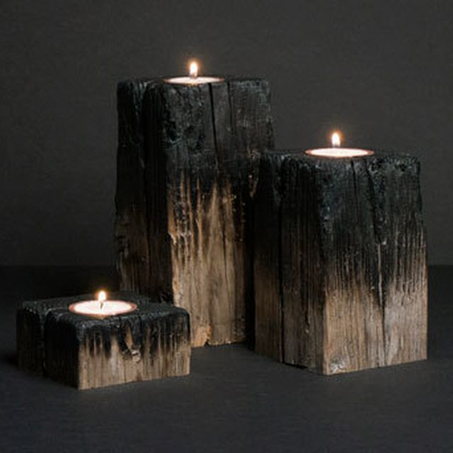 image: Firewood Candle by neverdiscrete