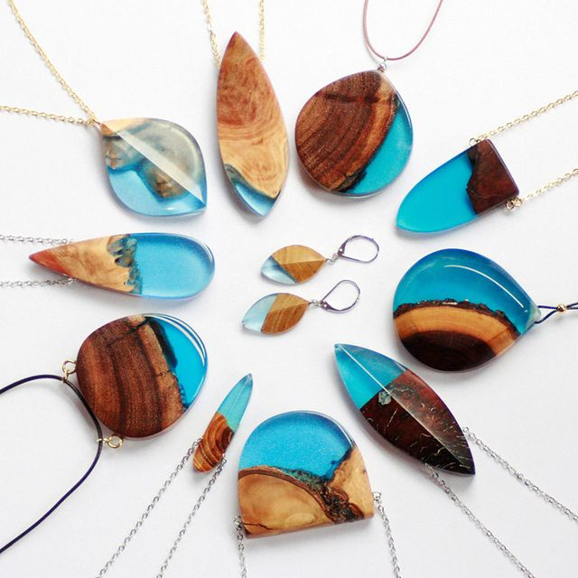 image: Turning Old Wood Into Unique Jewelry by wastedyouth
