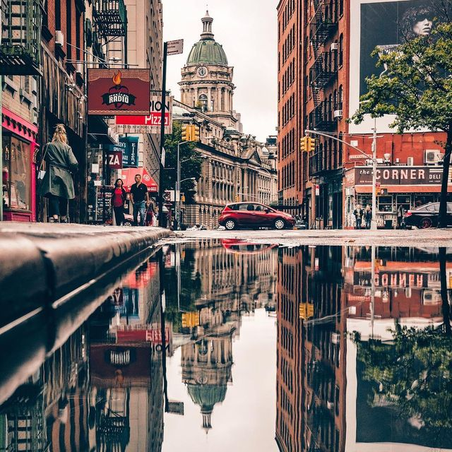 image: After the rain reflections ? •••••••••••••••#topnewyorkphoto #icapture_nyc #nycprimeshot #loves_nyc #newyork_instagram #ig_unitedstates  #sonyalpha #ig_color  #moodygrams #createcommune  #beautifuldestinations #igersnewengland #depthobsesse by yayitsyanan