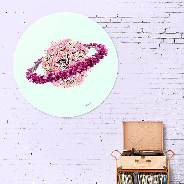 image: I've always felt like I'm from another planet ? ?.Floral Planet Wall Art by @paulfuentes_design New in the shop! •••#planetearth #planets #planeta #floraldesigns #floraldecoration #springiscoming #universetoday#wallartprints #interiorblog #pinkflower by fuentes_studio