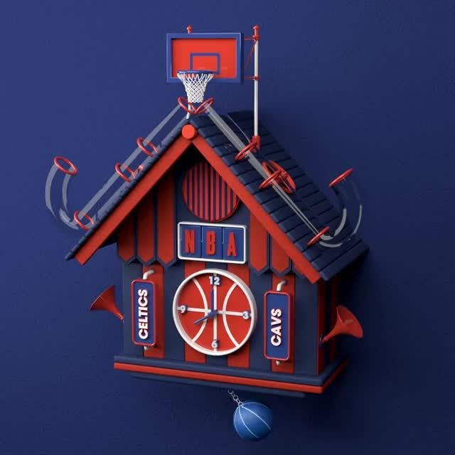 image: NBA Time by @design_lad | submit your work via contact@thedesigntip.net by thedesigntip