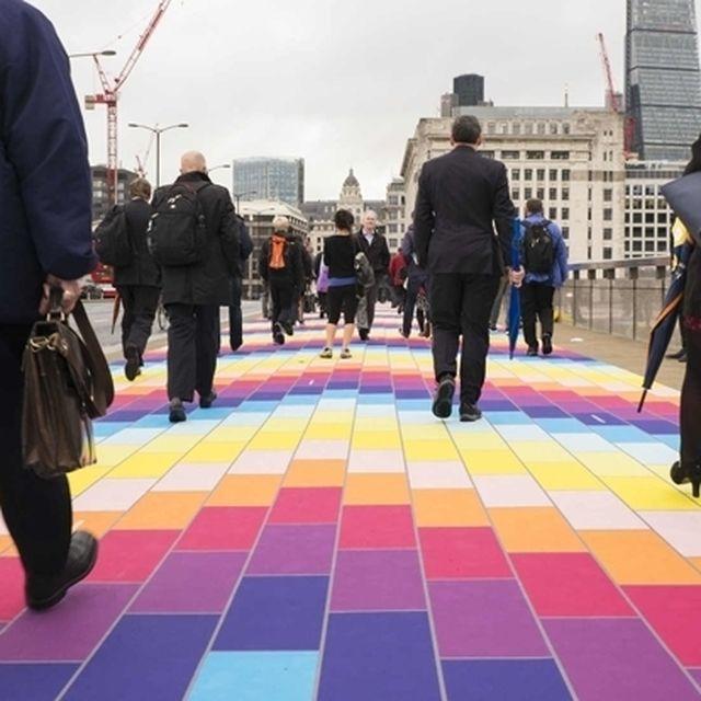post: Why Did London Bridge Transform into a Rainbow Road? by middleoftheatlantic