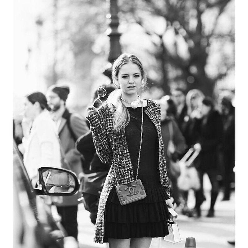 image: #regram @_streetstyle Paris in @chanelofficial by laurala_hayden
