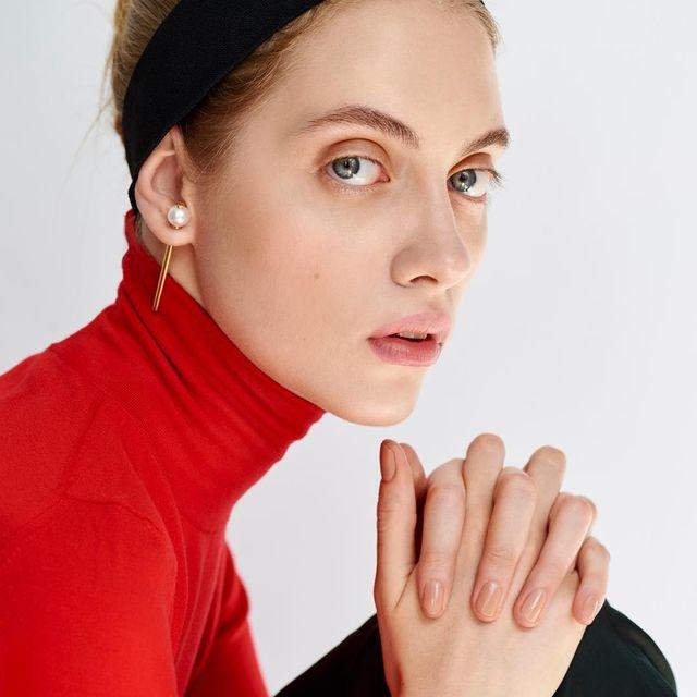image: @odette.pavlova shoot by @erikpanov | styled by @svetlana_tanakina | makeup/hair #katemur | thanx @mariasternjewellery by katemur