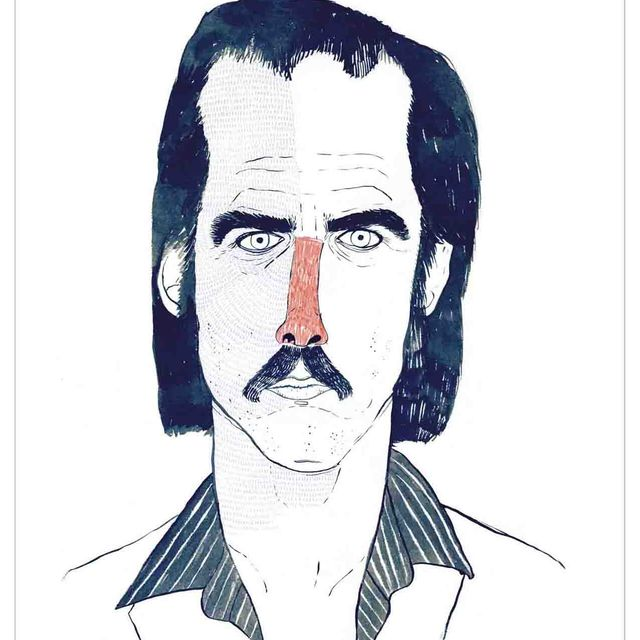 """image: Littleisdrawing """"Nick Cave"""" by gunter_gallery"""