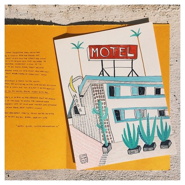 image: Come to my motel room, sleep with me. / MOTELS are a... by little_isdrawing