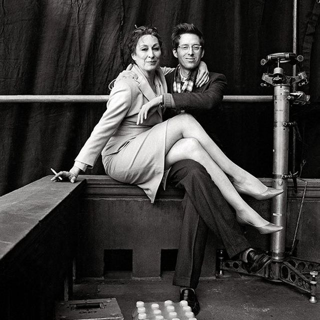 image: Anjelica Huston & Wes Anderson by heymercedes