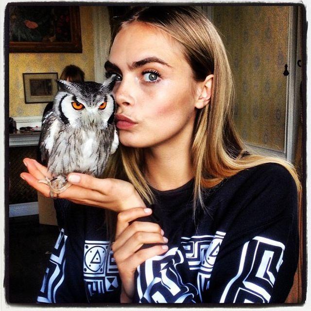 image: CARA & HER OWLS by martanicolas