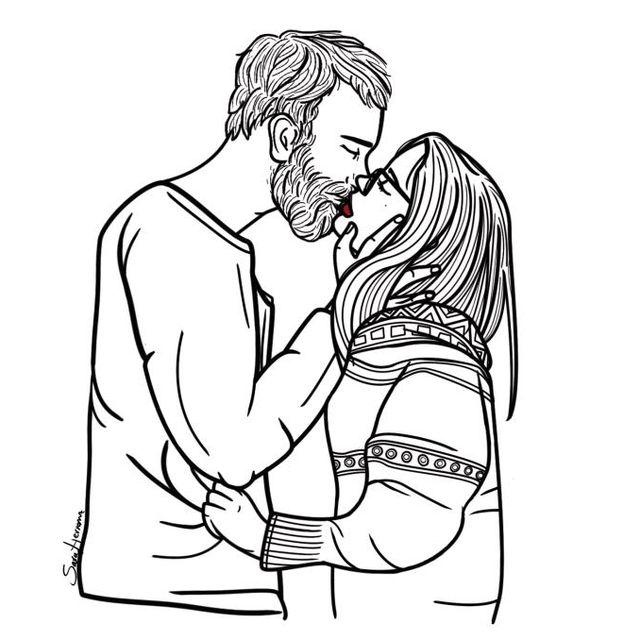 image: Podría dibujar tus labios con la punta de mi lengua by poppycoffee