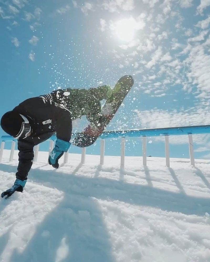 image: Summer boarding at @fonnasnowpark with my brothers @alek_oestreng and @sirframeface @rk1snow ? link to full edit in Bio ?? video by: @gimbalgod by stalesandbech