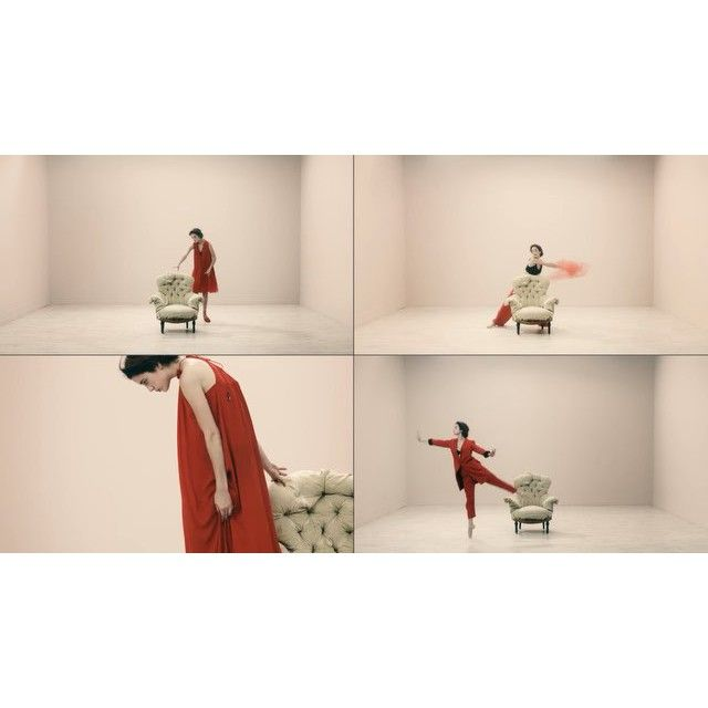 """video: """"Lady in red"""" in @voguespain for @elcorteingles @blanca by maria_pedraza"""