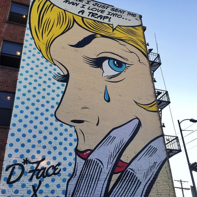 "image: @dface_official ""Love Trap"" mural in Los Angeles, USA ?? (2015)•#dface #streetart_official #streetart #publicart #urbanart #contemporaryart #lastreetart by streetart_official"