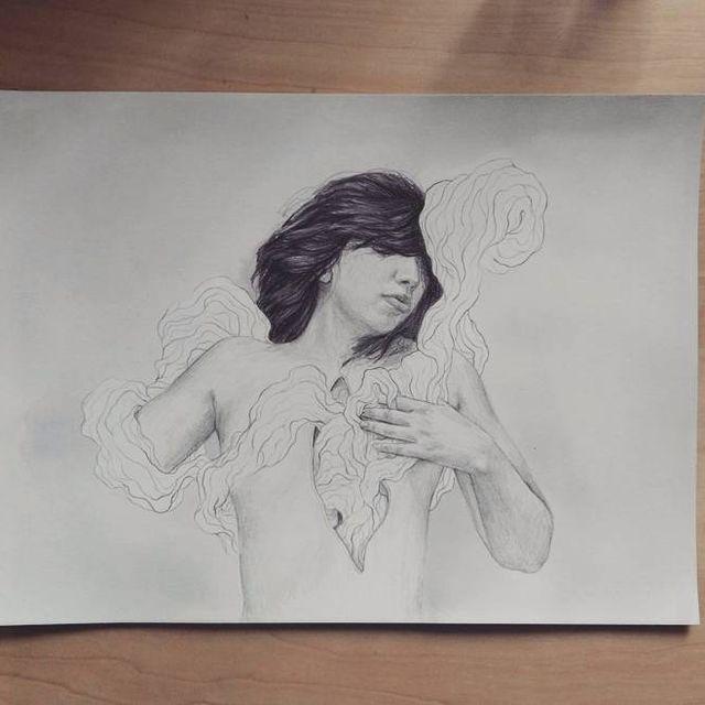 image: #wip of the next comission?? #ilustracion #ilustrador #barcelona #dibujo #art #lapiz #parker #ink #tinta #acuarela #painting #drawing #pencil #paper #arte #papel #estudio #desk #studio #artist #elisaancori by elisaancori