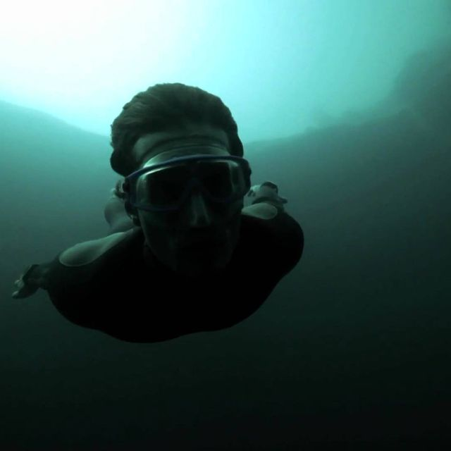video: Guillaume Nery base jumping at Dean's Blue Hole, by cornelius