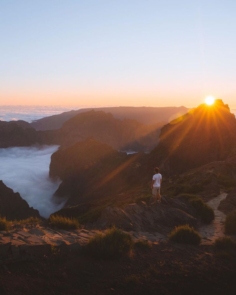 image: Missing these kind of sunsets lately. Pico do areeiro is always a good choice when visiting Madeira Island. This one was shot with a Canon 6D mark i + 50mm 1.8 🇵🇹 by Ventura_Sales
