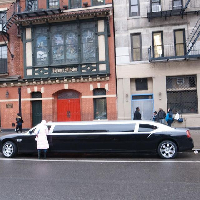 image: #tbt Stretch limo in front of the Bowery... by terrryrichardson