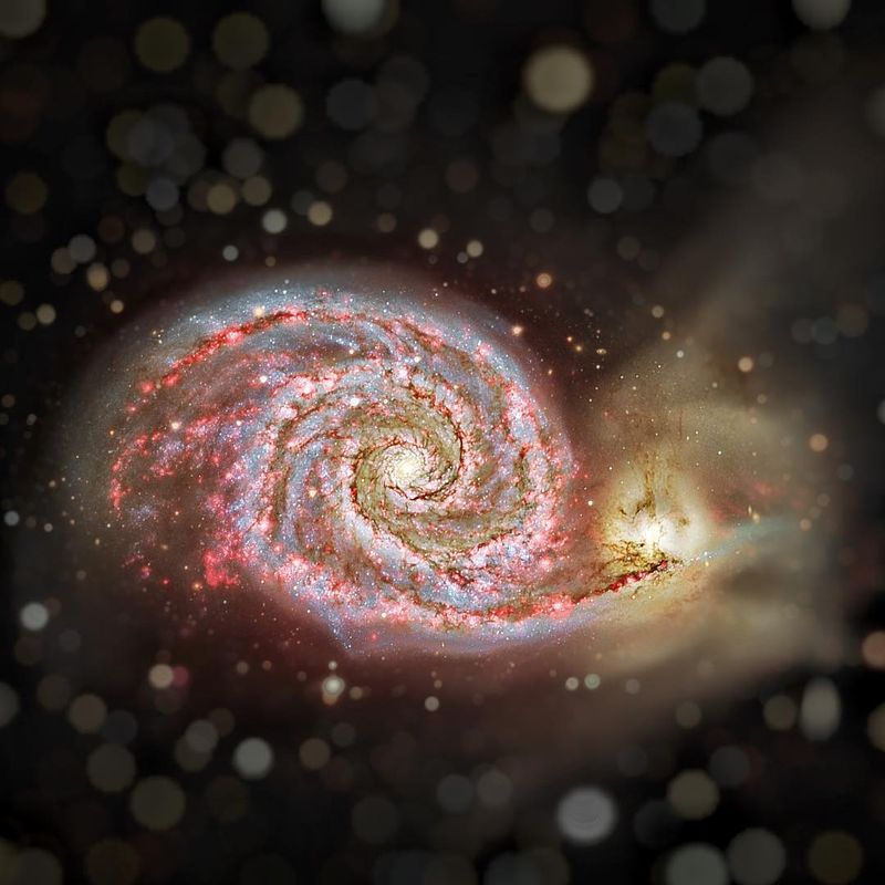 image: Hydrogen in M51 by thehubblescope