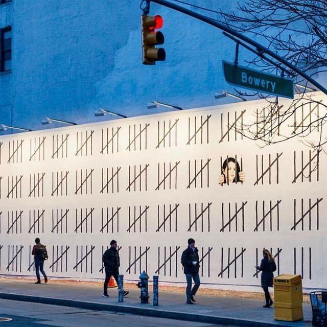 image: @banksy wall in New York City, New York, USA ??(2018)•#banksy #urbanart #streetart #painting #streetartofficial #contemporaryart #newyorkcity #newyork by streetart_official