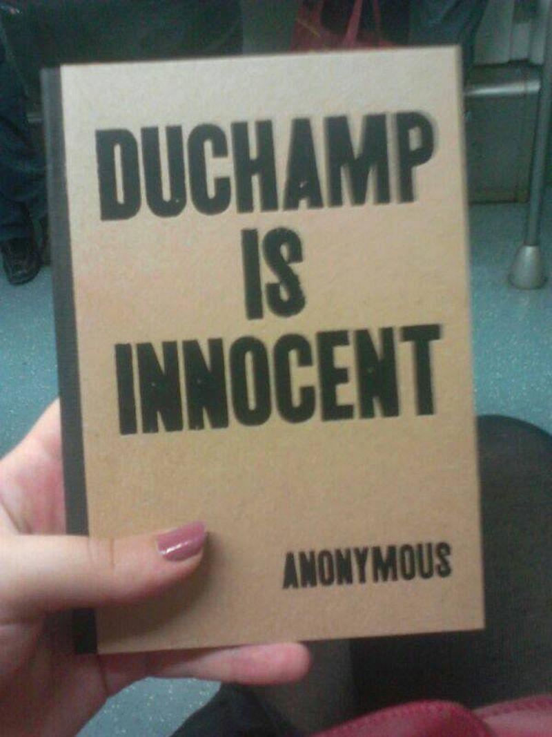 image: Duchamp is innocent by marta-h-huguet