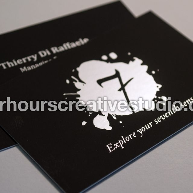 image: Hot Foil Blocked Velvet Soft Touch Laminated 450gsm Business Cards | Buy Online by hourscreative