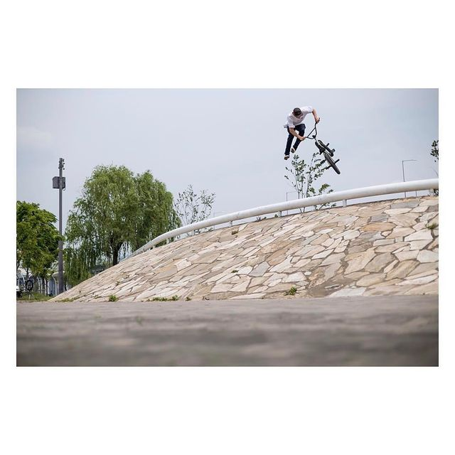 image: bar ride down whip in Korea earlier this year shot by @eisabakos   @eclatbmxbrand by kilianroth
