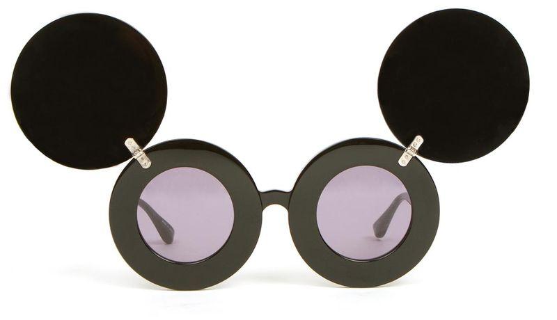 image: Linda Farrow JS Mickey Mouse Jeremy Scott Sunglasses by sweet-olivia