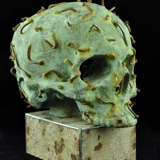 "image: Sergii Shaulis @shaulissergii - Nr. IIX, Information part, from ""Known Unknown"" series (bronze/steel) 22 x 16.5 x 23 cm. 2016 #sergiishaulis by durmoosh"