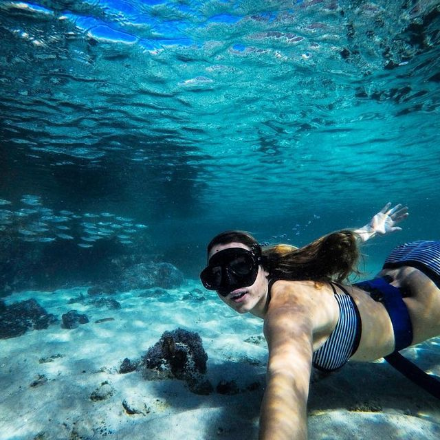 image: Swimming with a school of fish! ??...#GoPro #wohza #capturedifferent by fainepearl