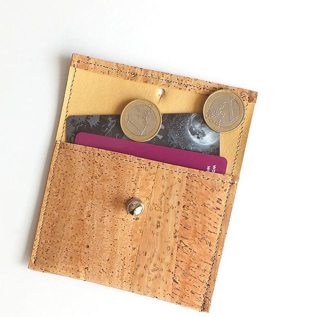 image: Natural cork coin purse / card holder by xianna
