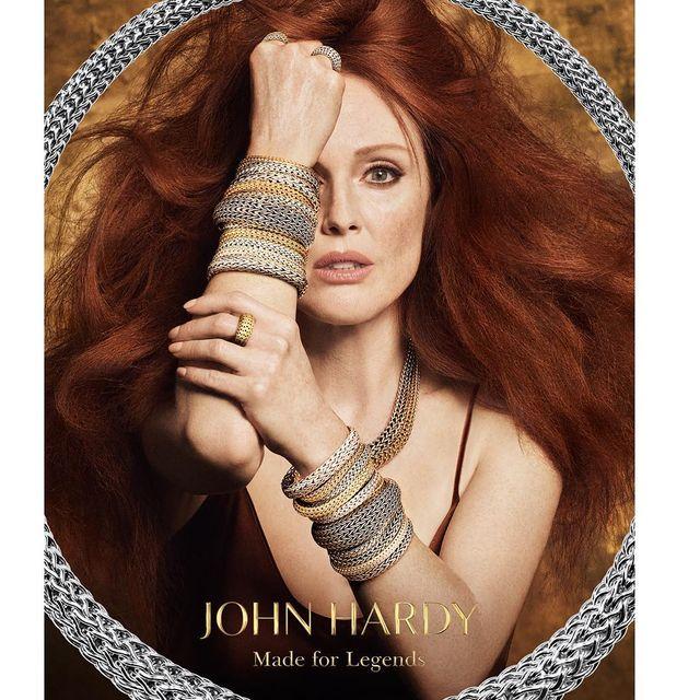 image: The Incredibly Beautiful @juliannemoore  staring the new #MadeForLegends campaign for @johnhardyjewelry #classicchain shot by @luigiandiango @luigimurenu @gucciwestman @juliavonboehm @matteprojects #johnhardyjewelry #luigiandiango by luigimurenu