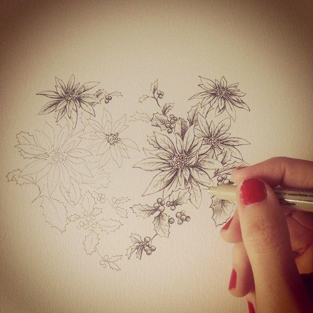 image: ...floreando... #ziazera #ponsetia by laura_agusti