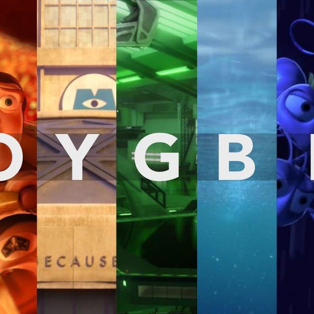 video: ROYGBIV: A Pixar Supercut by Saracho