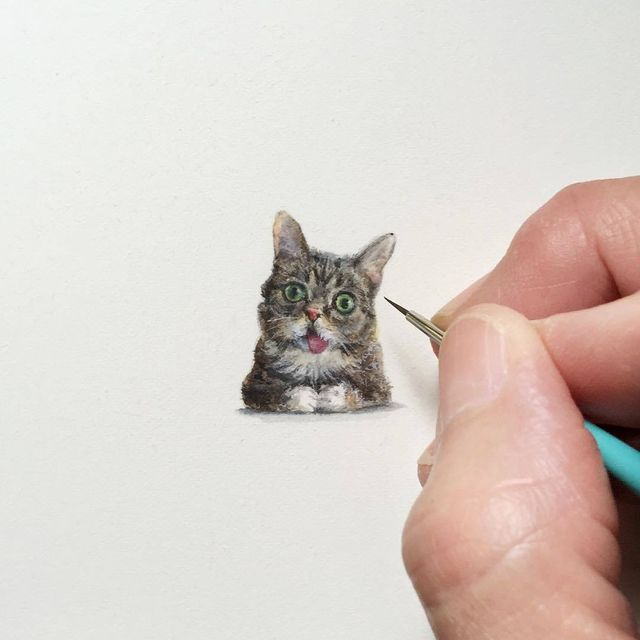 image: Unbelievably Tiny Paintings By Karen Libecap by jenniferasos