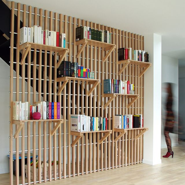 image: Rossignol Shelf & Railing...by Alexandre Pain.#p_roduct•#product #productdesign #bookshelf #shelf #wood #woodworking #france #railing #book by product