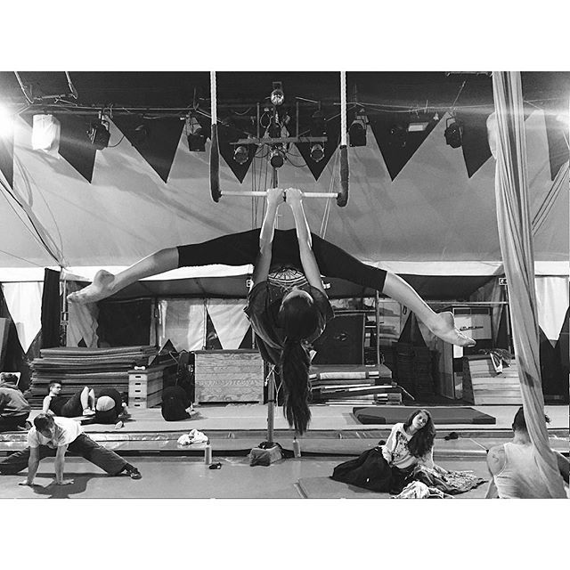 image: Up in the air  #trapeze #aerialtrapeze #circus with @ir by maria_pedraza
