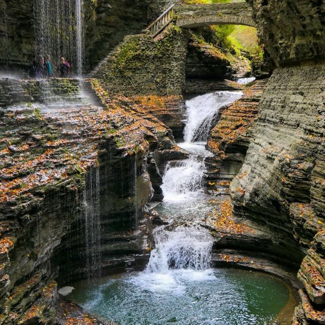 image: I totally understand now why Watkins Glen State Park in New York is so popular - the whole gorge is filled with scenes like this! ? And, in the autumn, Rainbow Falls lives up to its name! ? by dangerousbiz